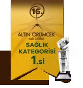 16. ALTIN ÖRÜMCEK web ödülleri SAĞLIK KATEGORİSİ 1.si